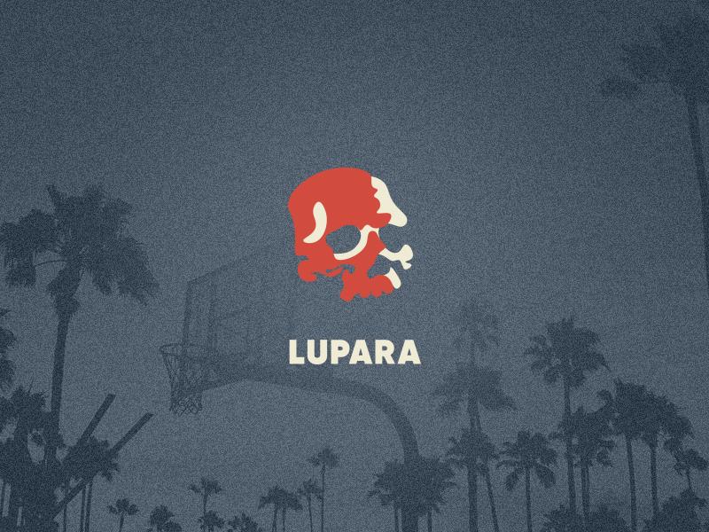 LOGO FOR LUPARA − STREETWEAR COMPANY color brand design wear hooligans skull true streetwear illustration minimal drawing art glyphs logotype pictogram design icon typography branding logo vector