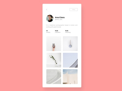 Profile | Daily UI  - 001