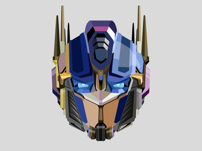 Optimus Prime illustration optimus prime transformers flat sketch design