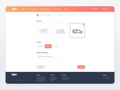 Queo Parking Platform - Registration Form Step 2
