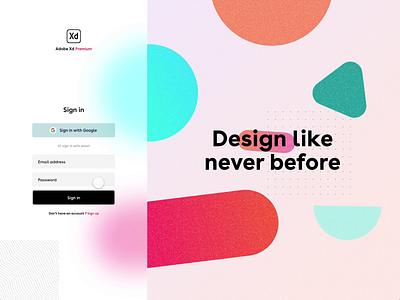 Adobe Xd sign up form ux photo users user blur login sign in sign up signup form typography branding illustration app logo ui gradient web adobe xd adobexd