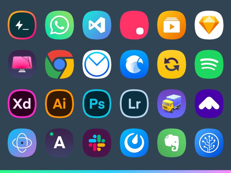 Mac Icons gradient icns macos app mac icons sketch
