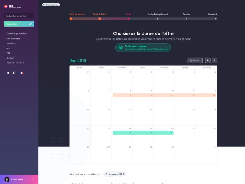 [BRS] calendar premium calendar server video game design branding app gradient web ui logo sketch