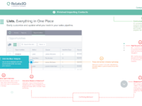 Lists view onboarding results