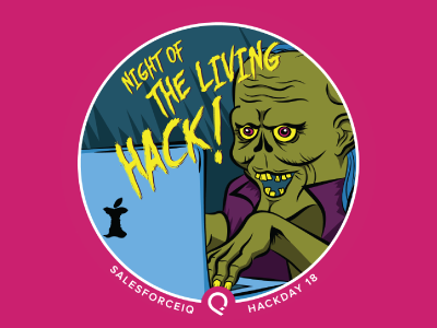 Salesforce Halloween Hackday Stickers