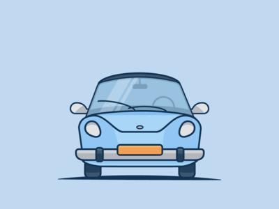 Simple car illustration