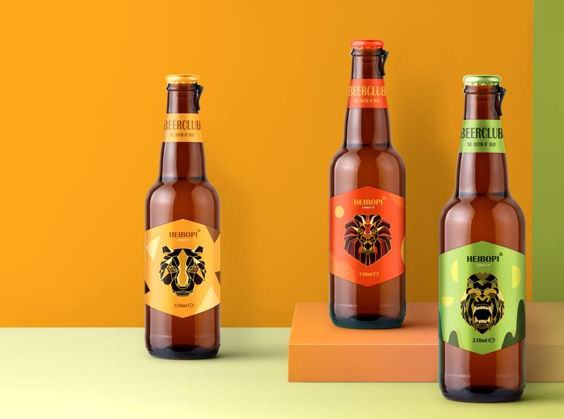 嗨!菠啤 | 啤酒包装设计 logo illustration 包装 包装设计