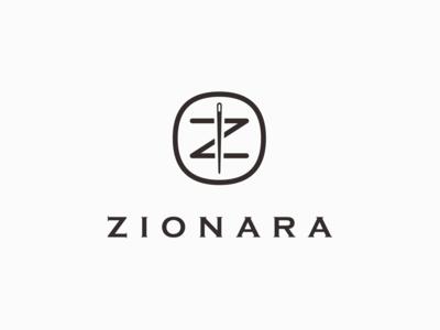 ZIONARA clothing brand logo design