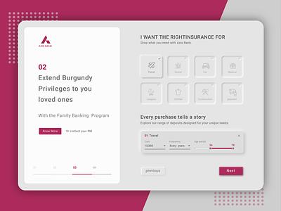 Axis Bank bank web  design webdesign web app website