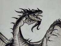 Pencil sketch_Dragon