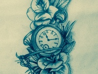 Tatoo_Clock pencki Sketch