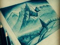 Pencil sketch_Hills