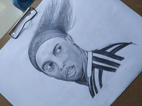 Ronaldinho Pencil Sketch