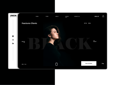 Dark photography graphic green dark mode web design webdesign website black dark app