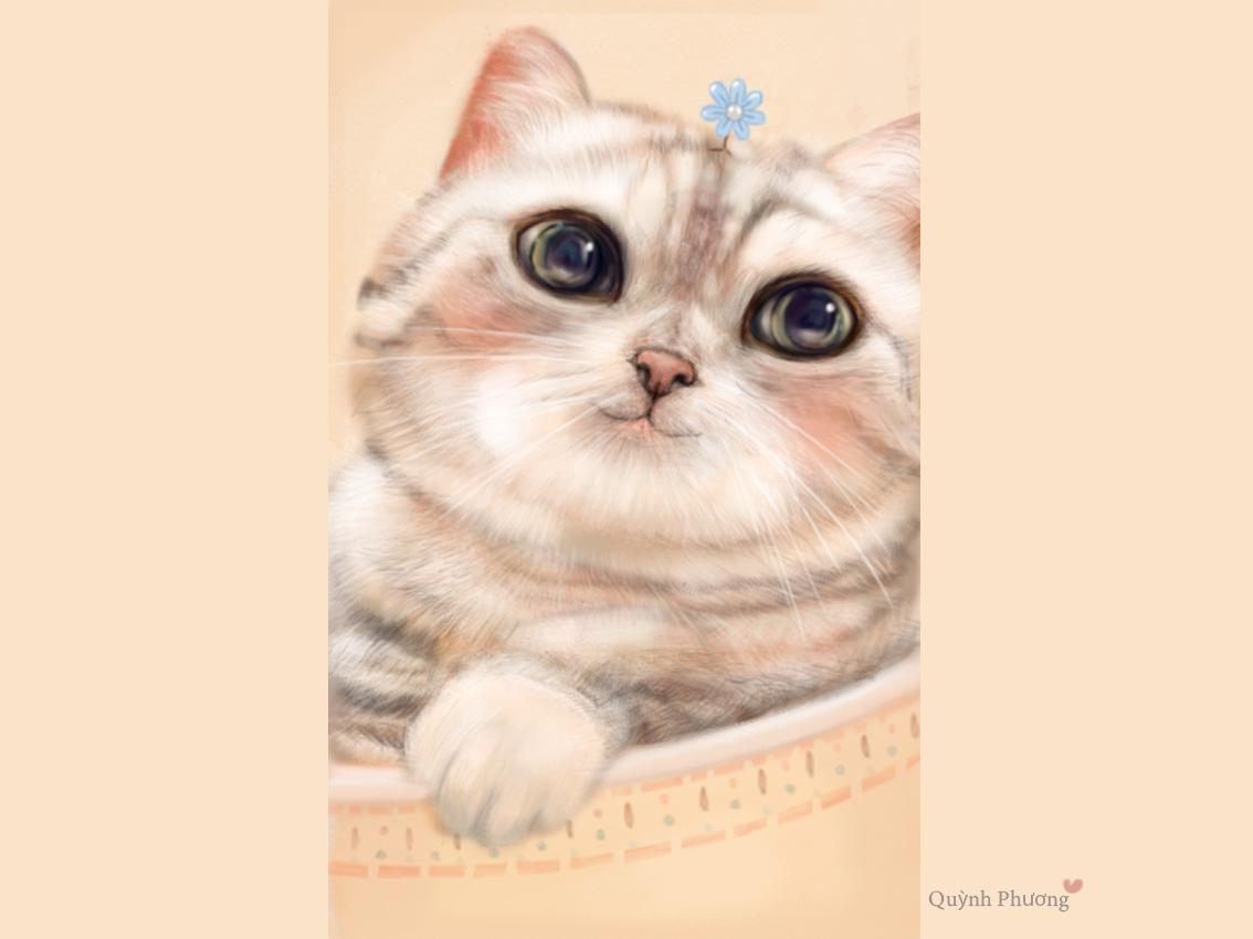 Cute Cat cat art digital painting