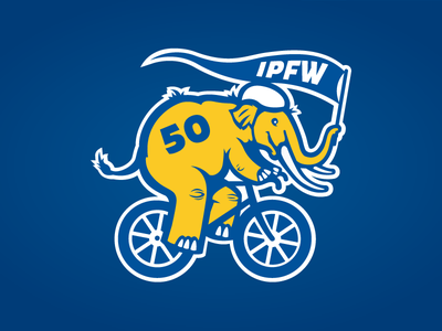 IPFW Sculpture with Purpose Mastodon bikes identity university bicycle logo mastodon