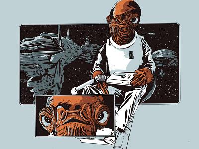 it's a trap admiral ackbar star wars illustration