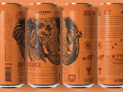 Metazoa Matriarch Can illustration elephant beer beer can craft beer