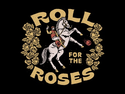 Roll for the Roses Tee race roses jockey horse derby