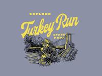Turkey Run State Park Shirt Concept state park illustration