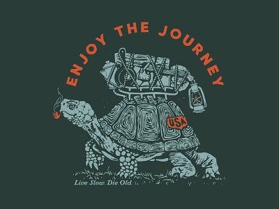 Enjoy the Journey tortoise gear camping box turtle