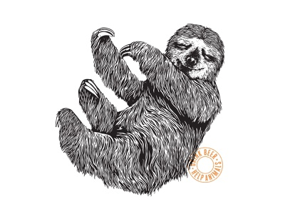 Nap in a Hammock brewery branding beer illustration animal sloth