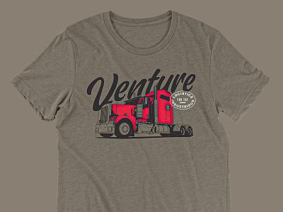 Venture logistics tshirt illustration logistics trucking semitruck truck