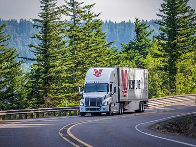 Venture Branded Trucks branding logistics semi truck truck