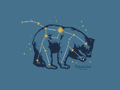 Ursa Major Shirt Design stars constellation major ursa bear