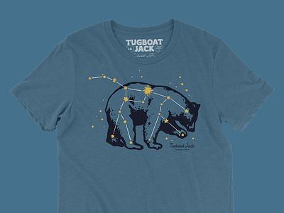 Ursa Major Shirt Design stars constellation major ursa bear