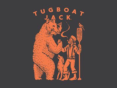 Tugboat Jack Shirt canoe paddle dog outdoors bear