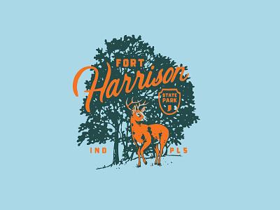 Fort Harrison State Park Shirt Design indiana deer state park
