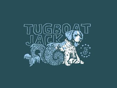 Sea Dog Shirt Design mermaid sea dog illustration