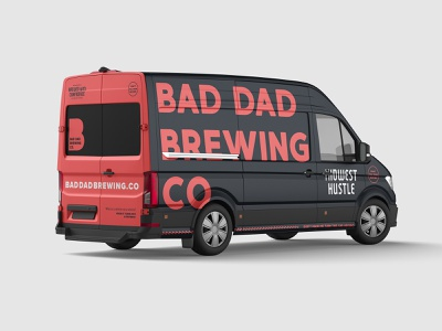 Bad Dad Mobile wrap van vehicle brewery