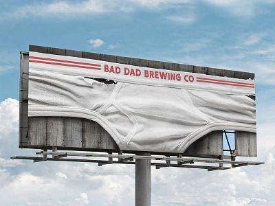Bad Dad Brewing Outdoor Board