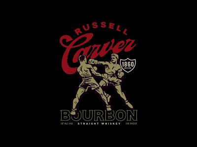 Russell Carver Whiskey Bottle Concept packaging branding bourbon whiskey