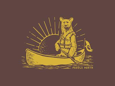Paddle Bear paddle canoe bear