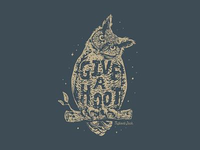 Give a Hoot Shirt Concept 2 illustration hoot owl