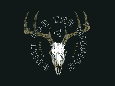 Mystery Ranch Skull Concept antlers skull stag deer