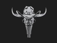 Bull Gun Skull