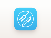 Foodnotes iOS app icon blue version