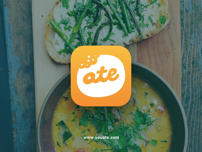 Ate app icon for iOS tracking food icon app ios