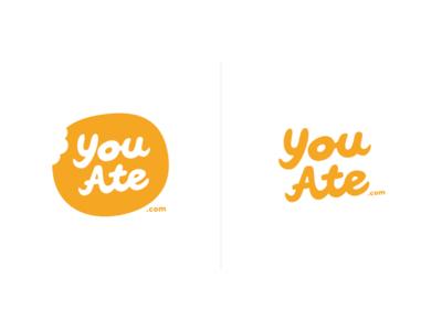 YouAte logo experiment 1. experiment logo