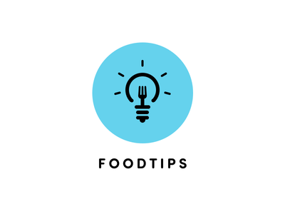 Foodtips logo proposal tips food icon
