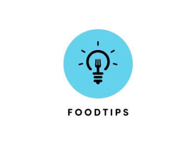 Foodtips logo proposal tips food icon
