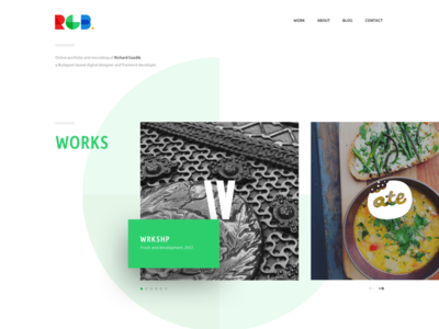 RGB - Portfolio Website rgb website portfolio