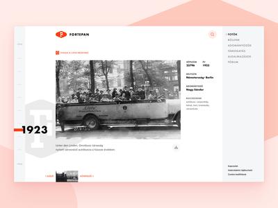 Website concept for Fortepan website concept proposal website