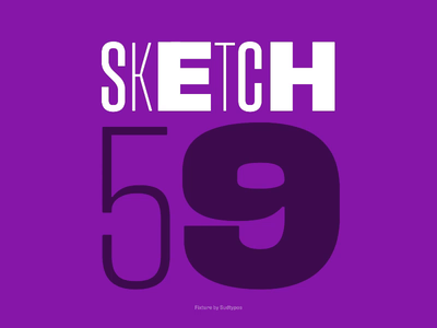 Sketch 59 — OpenType features and Variable fonts css html animation variable fonts open type sketch