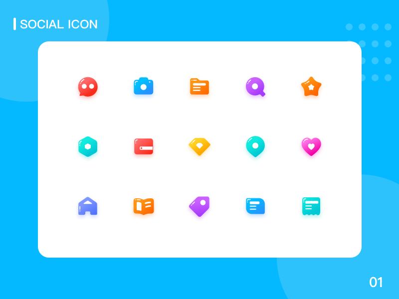 Social Icons 图标