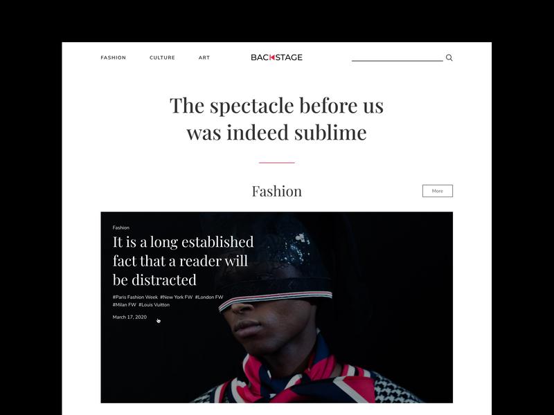 Backstage - Website fashion brand ecommerce design typography branding mobile online logo magazine art culture fashion web ui ux